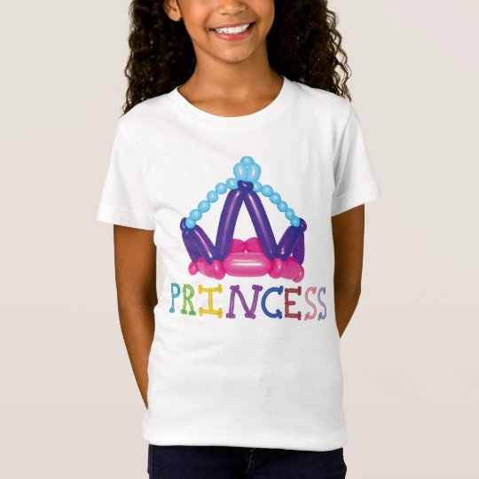 Kids Balloon Princess Crown with word Princess T-Shirt