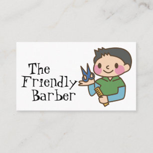 Kids cartoons business cards business card printing zazzle uk kids barber boys hair stylist children cartoon business card colourmoves