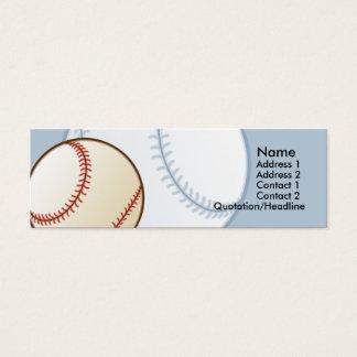 Kids Baseball Skinny Profile Cards