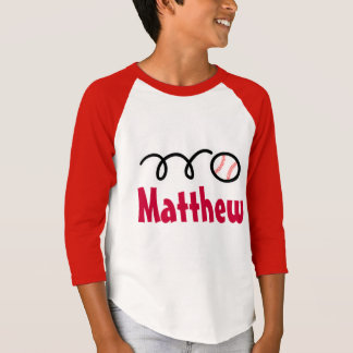 Kids baseball t-shirts for boys   Customized name
