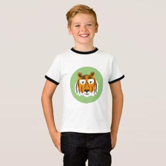 Kids' Basic Ringer T-Shirt with lion head