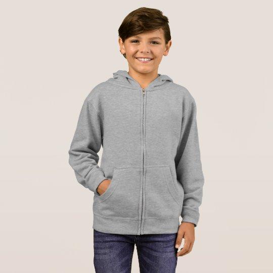 Kids' Basic Zip Hoodie, Grey Heather