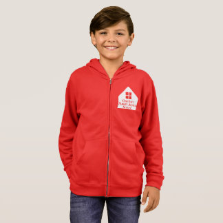 Kids' Basic Zip Hoodie - Red