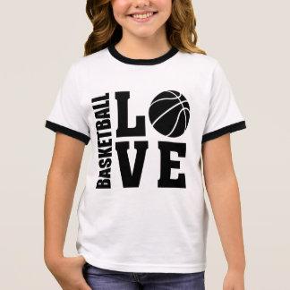 Kids Basketball Love, Basketball Ringer T-Shirt