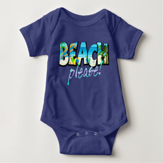 Kids Beach Please! Baby Bodysuit
