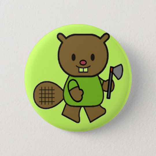Kids Beaver T Shirts and Gifts 6 Cm Round Badge