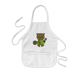 Kids Beaver T Shirts and Gifts Kids Apron