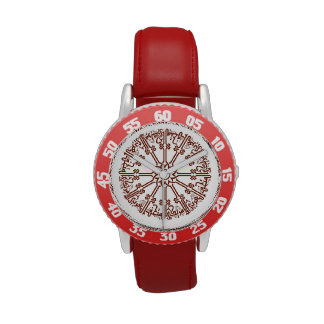 Kid's Bezel Stainless Steel Red Islamic Wristwatches
