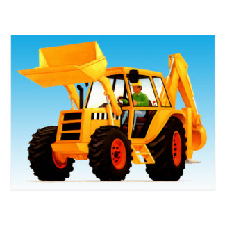 Kid's Big Fun Yellow Digger Postcard