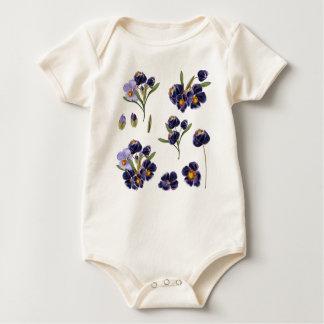 Kids bio baby body with Romance flowers Baby Bodysuit