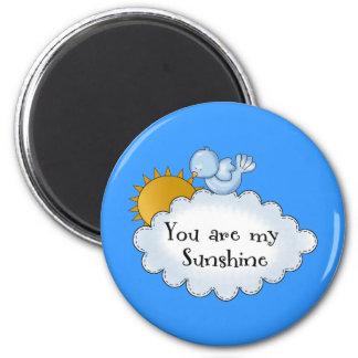 Kid's Bird Sun You Are My Sunshine 6 Cm Round Magnet