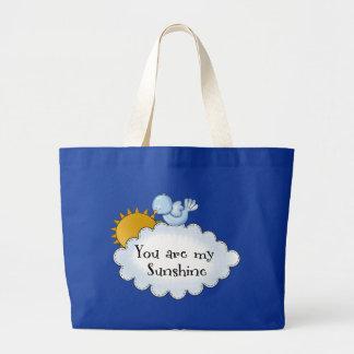 Kid's Bird Sun You Are My Sunshine Large Tote Bag