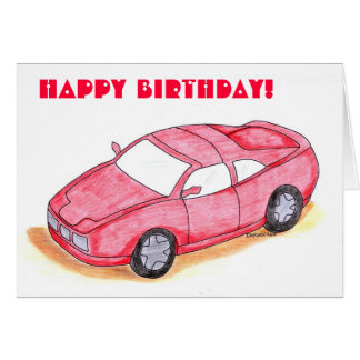 Kids Birthday Card - Racecar