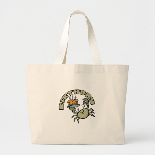 "Kids, ""Birthday Crab"" Tote Bags"