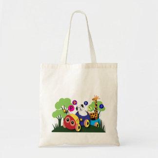 Kids birthday Fun caterpillar train Canvas Bag