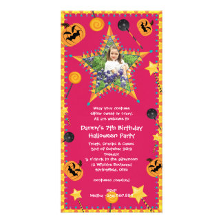 Kid's Birthday Halloween Costume Party Invitation Picture Card