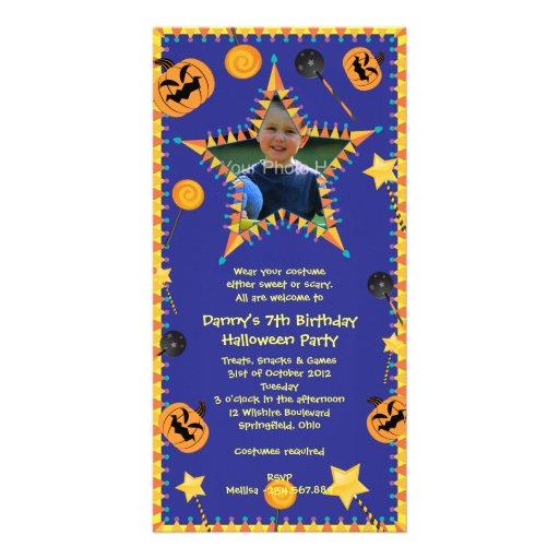 Kid's Birthday Hallowen Costume Party Invitation Photo Card