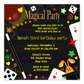 Kids birthday invitation 043 Magical Party