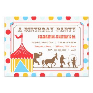 Kids Birthday Invitation - Circus