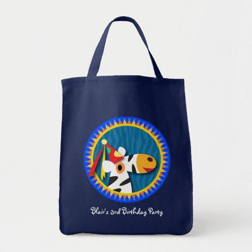 Kid's birthday party tote bag