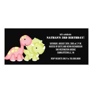 "Kids Birthday Party Invitations (Dinosaurs) 4"" X 9.25"" Invitation Card"
