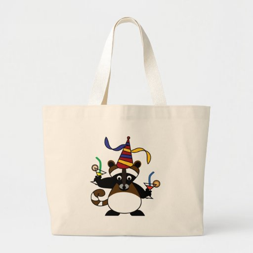 Kids birthday party: Raccoon Tote Bags