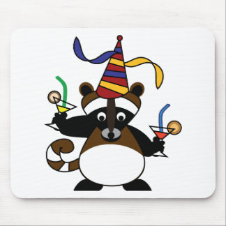 Kids birthday party Raccoon Mouse Pad