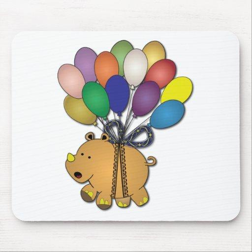 Kids birthday Party: Rhino Mousepads