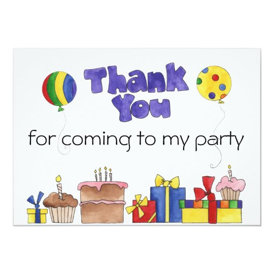 Kids Birthday Party Thank You cards Personalised I