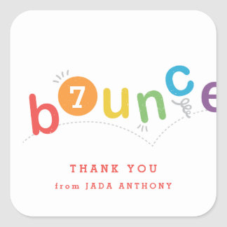 Kids birthday party thank you sticker