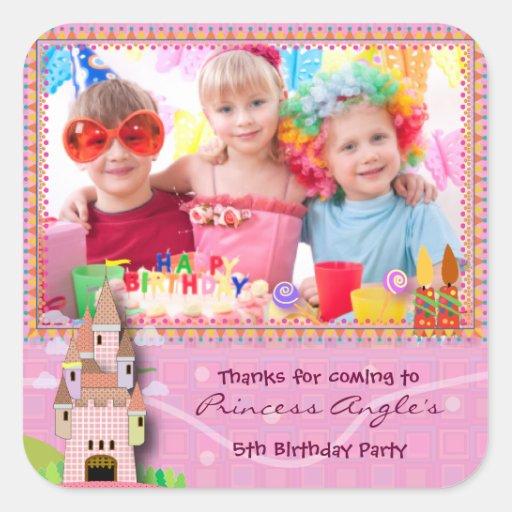 Kids Birthday Sticker 053: My Castle