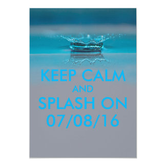 Kids Birthday Summer Pool or Beach Party Card