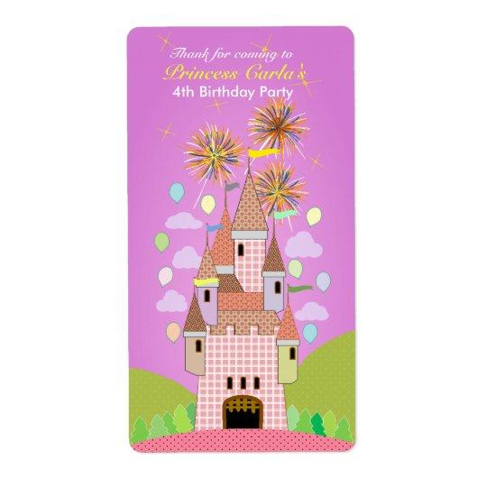 Kids Birthday Thank You Sticker: castle II Shipping Label