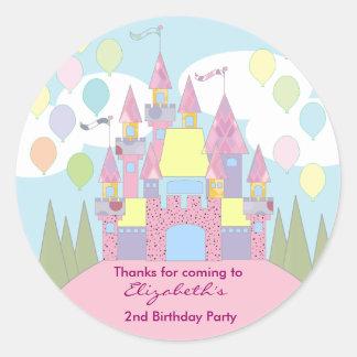 Kids Birthday Thank You Stickers: Castle Round Sticker