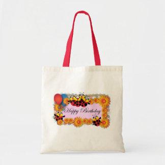 Kids Birthday themes: 039 Ladybugs Budget Tote Bag