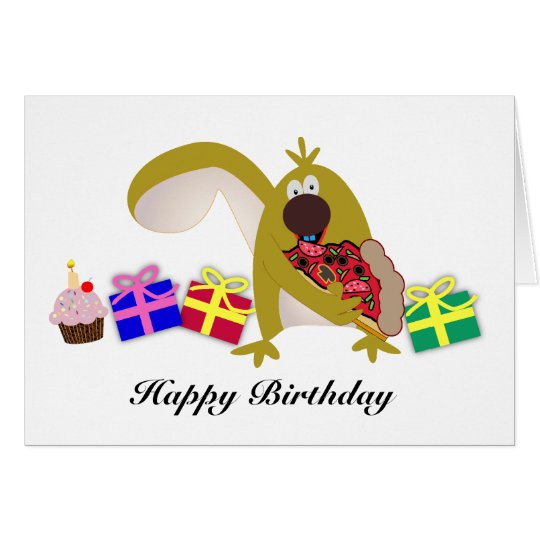 Kids Birthday themes: 041 Squirrel Card