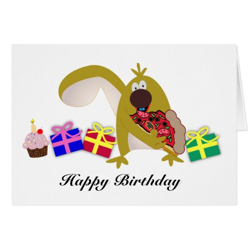 Kids Birthday themes: 041 Squirrel Greeting Card
