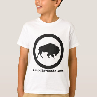 Kids Bison Bay T-Shirt, White T-Shirt