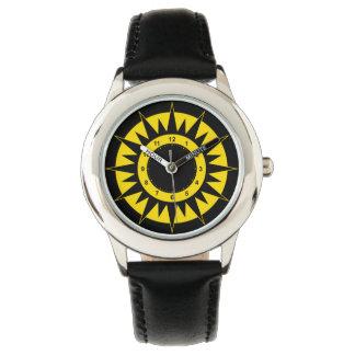 Kids' Black and Yellow Sun Watch