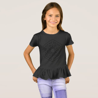 KIDS black t-shirt with mandala