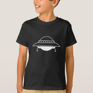 Kids Black UFO Flying Saucer Tshirt