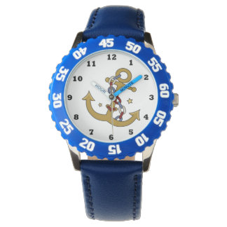 Kids Blue Anchor Watch