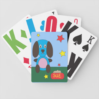 Kid's Blue Dog Playing Cards