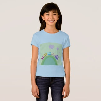 Kids blue t-shirt with Train