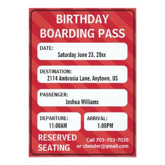 Kids Boarding Pass Invitation