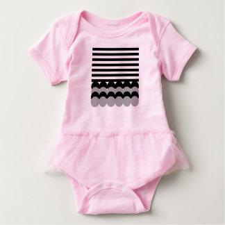 Kids body : pink with grey baby bodysuit