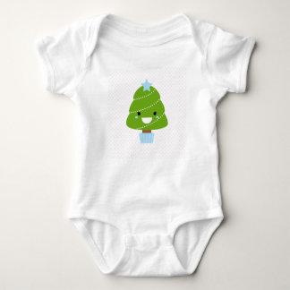Kids body with kawaii tree / Green Baby Bodysuit