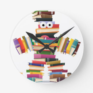 Kids Book Monster Round Clock