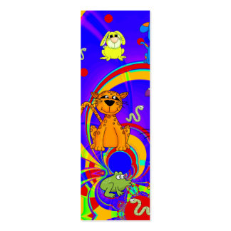 Kid's Bookmark Boys Animals Collage Pack Of Skinny Business Cards