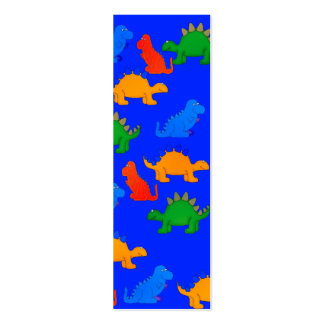 Kid's Bookmark Boys Dinosaur Collage Blue Pack Of Skinny Business Cards